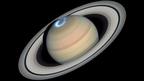 A Szaturnusz sarki fénye