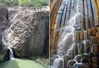 Vízesés a bazaltoszlopokon